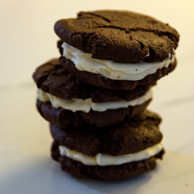 Chocolate Peppermint Sandwich Cookies (6 Or 12)